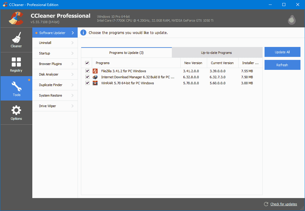 CCleaner Professional Review & Rating – updated in 2019.